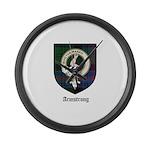 Armstrong Clan Crest Tartan Large Wall Clock