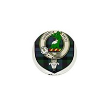 Baird Clan Crest Tartan Mini Button