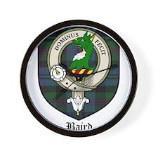Baird Clan Crest Tartan Wall Clock