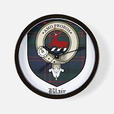 Blair Clan Crest Tartan Wall Clock