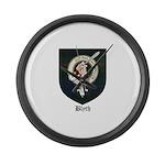 Blyth Clan Badge Tartan Large Wall Clock