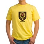 Borthwick Clan Crest Tartan Yellow T-Shirt