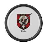 Brodie Clan Crest Tartan Large Wall Clock
