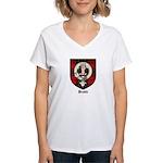 Brodie Clan Crest Tartan Women's V-Neck T-Shirt