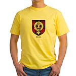 Brodie Clan Crest Tartan Yellow T-Shirt