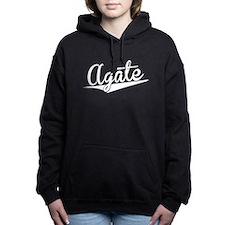 Agate, Retro, Women's Hooded Sweatshirt