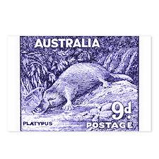 Vintage 1956 Australia Platypus Postage Stamp Post