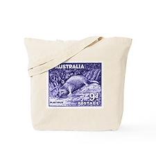 Vintage 1956 Australia Platypus Postage Stamp Tote