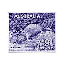 Vintage 1956 Australia Platypus Postage Stamp Thro