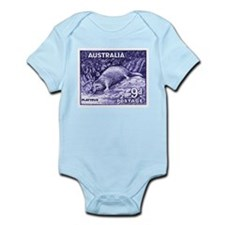 Vintage 1956 Australia Platypus Postage Stamp Body