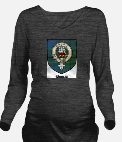 Duncan Clan Crest Tartan Long Sleeve Maternity T-S