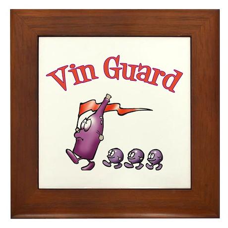 Vin Guard Wine Framed Tile