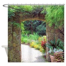Stone Door Path Shower Curtain