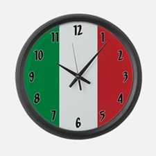 Flag of Italy Large Wall Clock