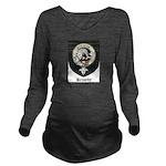 Kennedy Clan Crest Tartan Long Sleeve Maternity T-