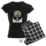 Kennedy Clan Crest Tartan Women's Dark Pajamas