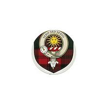 Kerr Clan Crest Tartan Mini Button
