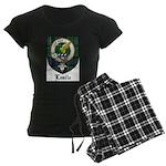 Leslie Clan Crest Tartan Women's Dark Pajamas