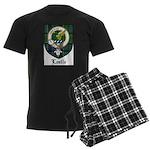 Leslie Clan Crest Tartan Men's Dark Pajamas
