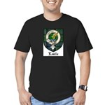 Leslie Clan Crest Tartan Men's Fitted T-Shirt (dar
