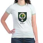 Leslie Clan Crest Tartan Jr. Ringer T-Shirt