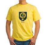 Leslie Clan Crest Tartan Yellow T-Shirt