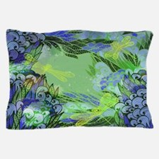 Golden Dragonflies Pillow Case