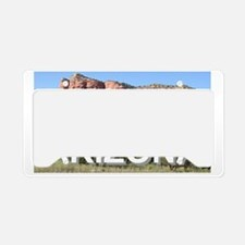 Arizona: rocks near Sedona, U License Plate Holder