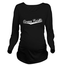 Airway Heights, Retro, Long Sleeve Maternity T-Shi