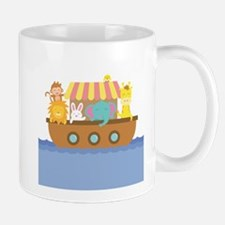 Colourful Noahs Ark with Cute Animals Mugs
