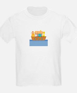 Colourful Noahs Ark with Cute Animals T-Shirt