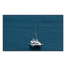 Catamaran moored offshore Decal
