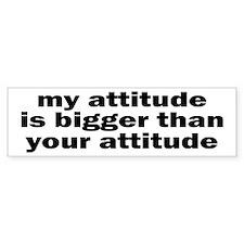 Big Attitude Bumper Bumper Sticker