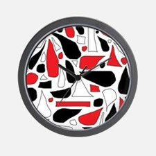Silly Red and Black Wall Clock