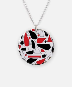 Silly Red and Black Necklace