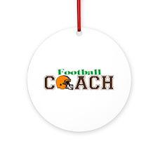 Football Coach II Ornament (Round)