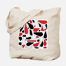 Silly Red and Black Tote Bag