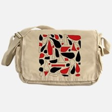 Silly Red and Black Messenger Bag