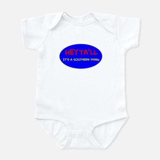 Hey Ya'll-blue comic Infant Bodysuit