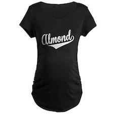 Almond, Retro, Maternity T-Shirt