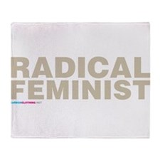 Radical Feminist Throw Blanket