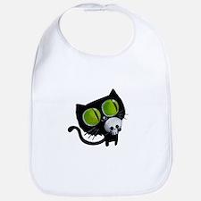 Spooky Black Cat Bib