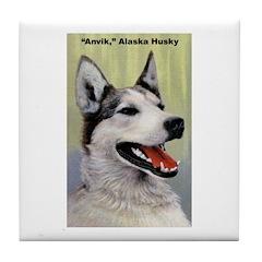 Alaska Husky Dog Tile Coaster