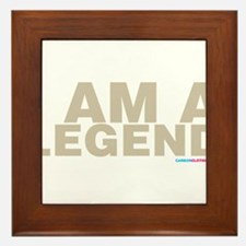 I Am A Legend Framed Tile