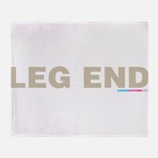 Leg End Throw Blanket