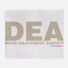 DEA Drug Enjoyment Agency Throw Blanket