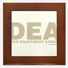 DEA Drug Enjoyment Agency Framed Tile