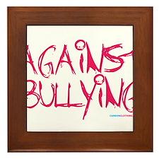 Against Bullying Framed Tile