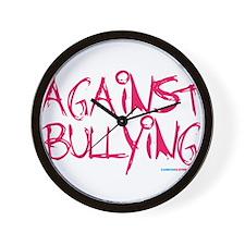 Against Bullying Wall Clock