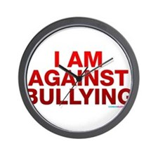 I Am Against Bullying Wall Clock